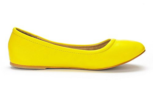 Sueño Pares Mujer Sole-fina Sólido Llanura Zapatos De Ballet Amarillo