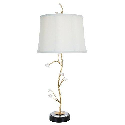 - Van Teal 463972 Chilly Crackled Ice Table Lamp, No No Size, Gold Leaf/Black Matte