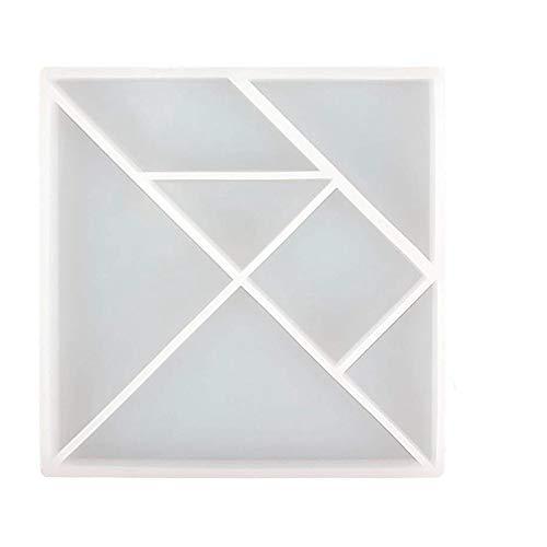Rompecabezas TOOGOO Molde de Silicona Epoxi Resina Crear M/ás Geom/étrico Formas Rompecabezas