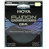 Hoya Super Slim Frame Multi-Coat ed Fusion Antistatic CPL Cir-PL Filter 77mm by Hoya