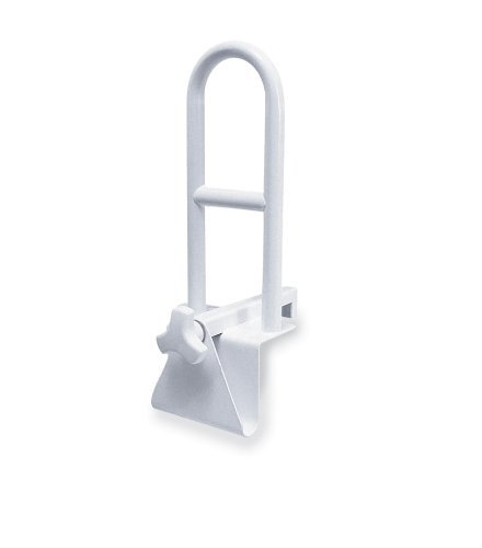 Steel Clamp on Tub Rail, White BY Healthline Trading