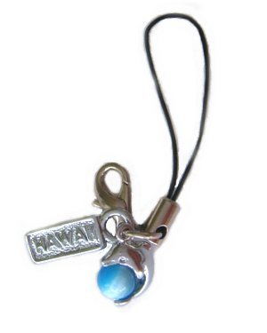 Hawaiian Dolphin Blue Ball Cell Phone Strap Charm