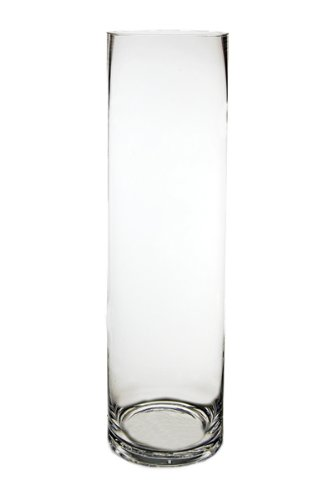 CYS Glass Cylinder Vase. H-18, Open D-5""
