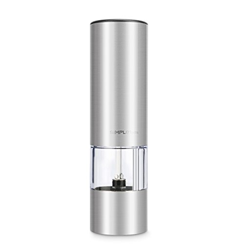 SimpleTaste Electric Pepper Grinder Pepper Mill Spices Grinder Salt Grinder with Adjustable Ceramic Rotor & Simple Touch Operation