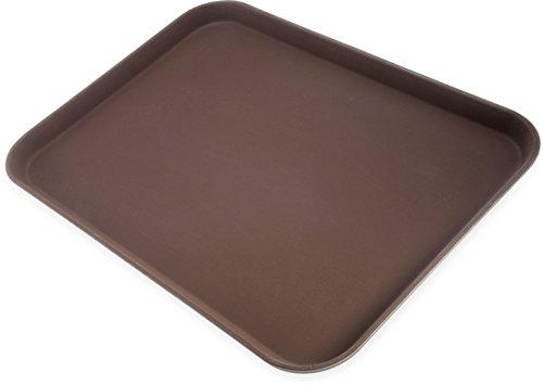 Carlisle 2216GRQ076 Griptite - Bandeja de servir antideslizante con forro de goma, 56 x 40 cm, color café (paquete de 6)