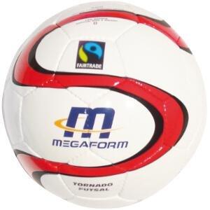 Megaform m401266 balón de fútbol Sala, Unisex, Color Blanco/Rojo ...