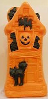 General Foam Halloween Haunted House Lighted Blow Mold Ho...