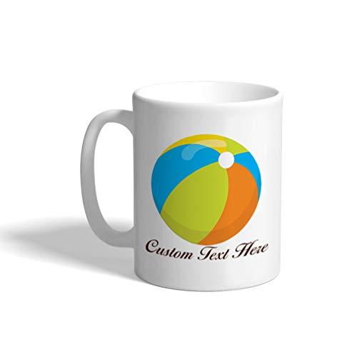 Custom Funny Coffee Mug Coffee Cup Beach Ball Boy White Ceramic Tea Cup 11 Ounces Personalized Text Here]()