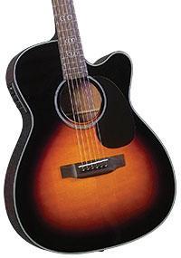 Blueridge BR-343CE Contemporary Series Gospel Cutaway Acoustic-Electric 000 Guitar with Hardshell Case (BR-343CEBUN1)