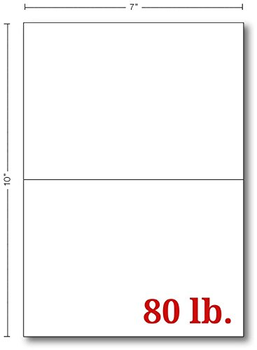 Blank White Cards (Half Fold 5 X 7 White Greeting Cards - 100 Cards)