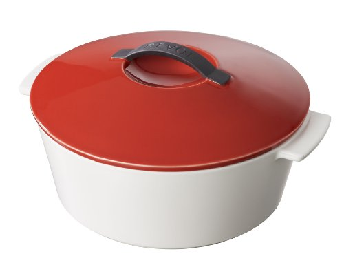 Revolution 642309 10-Inch Round Cocotte with Lid, Pepper Red