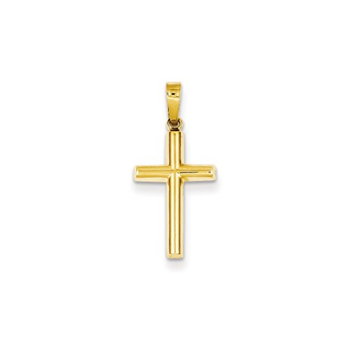 ICE CARATS 14kt Yellow Gold Cross Religious Pendant Charm Necklace Latin Fine Jewelry Ideal Gifts For Women Gift Set From Heart (New 14kt Yellow Gold Cross)
