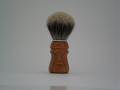S.O.C. Cherry Wood Shave Brush - Badger shave brush by Semogue