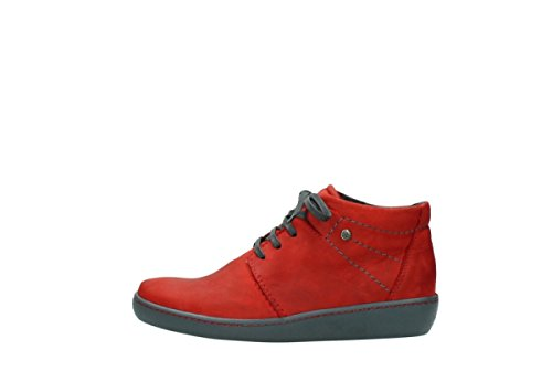 550 oiled Wolky nubuck 08126 Leather Womens Babylon red Boots wrBnqBTXx0