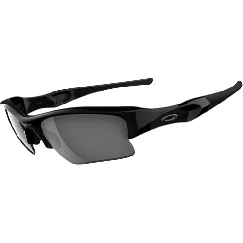 Oakley Flak Jacket XLJ Adult Sport Outdoor Sunglasses/Eyewear - Jet Black/Black Iridium / One Size Fits - Xlj Black Flak Oakley Lenses Jacket Iridium Polarized