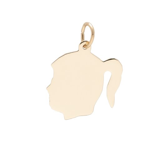 rembrandt-charms-medium-girl-silhouette-22k-yellow-gold-plate-on-925-sterling-silver-engravable