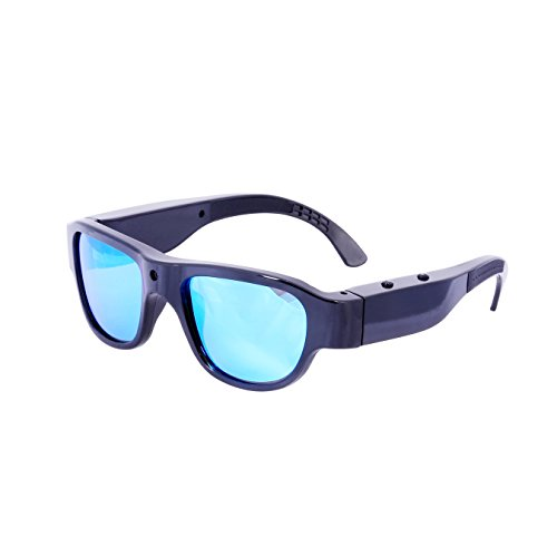 OHO 16GB Ultra Full HD 1080P Fashionable Video Sunglasses Interchangeable Prescription Lens