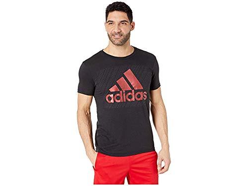 adidas Men's Badge of Sport Mesh Tee Black 1 -