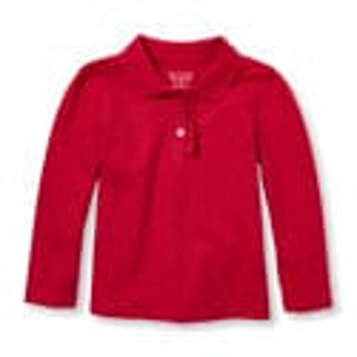 (The Children's Place Baby Girls Ruby Ruffle Pique Long Sleeve Polo Shirt)