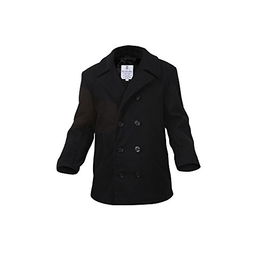 Price comparison product image ROTHCO WOMEN'S NAVY TYPE WOOL PEACOAT - BLACK - XL