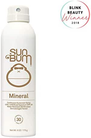 Sun Bum Mineral SPF 30 Sunscreen Spray | Vegan and Reef Friendly (Octinoxate & Oxybenzone Free) Broad Spectrum Natural Sunscreen with UVA/UVB Protection | 6 oz