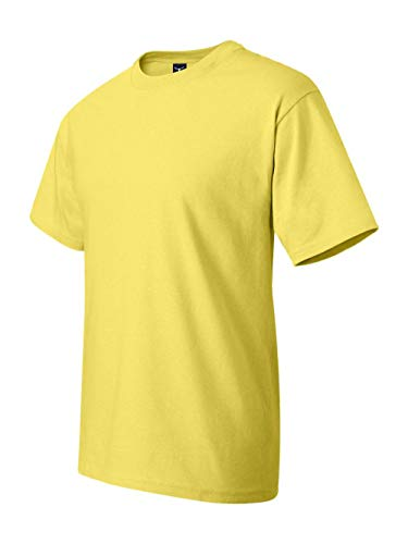 Hanes Men's Short Sleeve Beefy T-Shirt (Yellow, X-Large)