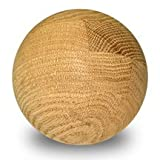 10 Pcs, 4'' Oak Ball - Stain Grade Has Multiple Solid Pieces Press Glued To Form Strong Solid Piece