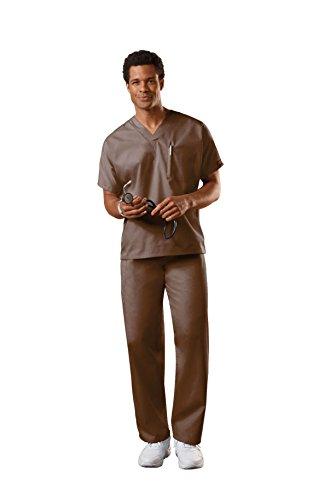(Cherokee Uniforms Authentic Workwear Unisex Scrub Set (Chocolate, 2X))