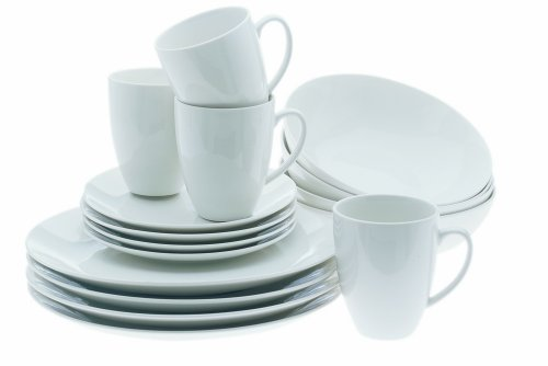 Maxwell and Williams Basics 16-Piece Coupe Dinner Set, White Review
