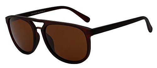 mate TIANLIANG04 la Coffee por Gafas gafas masculino gafas grande bastidor hombre marca de sol gafas alta polarizadas el sol negro de Diseño de de marco guía sol de Vintage brown w calidad de ErnqrC