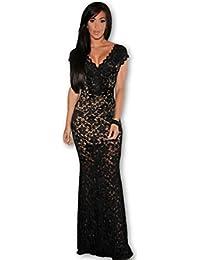 Vestidos Largos Maxi Dress Negros Ropa De Moda Para Mujer De Fiesta Sexys De Noche Elegantes VE0075