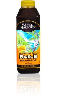 World Harbors Bar-B Sauce, 16-Ounce Bottles (Pack of 6)