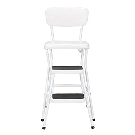 Prime Cosco Retro White Counter Chair Step Stool Ladder Gmtry Best Dining Table And Chair Ideas Images Gmtryco