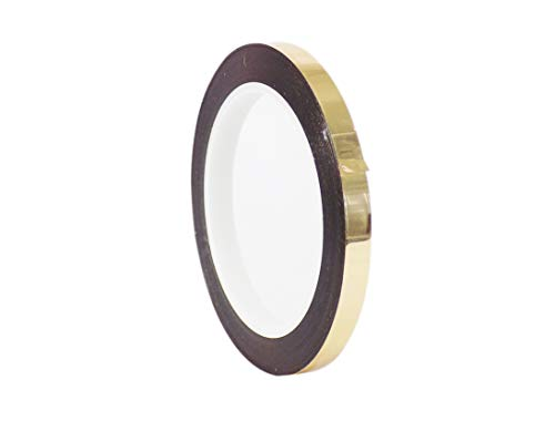 - WOD MMYP-1 Gold Metalized Polyester Mylar Film Tape with Acrylic Adhesive (Available in Multiple Colors & Sizes): 3/8 in. x 72 yds. Excellent Chemical and Thermal Stability.