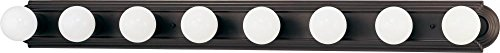 Nuvo 60/1287 Eight Light Vanity Strip, Mahogany Bronze, 48-Inch