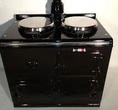 Aga Cookers - AGA COOKER 2-OVEN BLACK GAS REFURBISHED