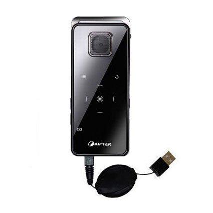Das ausziehbare USB-Lade-Kabel für Aiptek PocketCinema v20 V10 Verwenden das Erweiterbare TipExchagng-System
