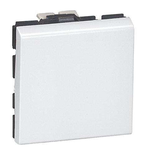 Legrand LEG77040 Poussoir programme mosa/ïque 2 modules 6 A Blanc