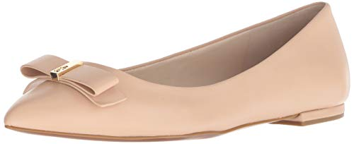 Cole Haan Women's Elsie Bow Skimmer Ballet Flat, Nude Leather, 7.5 B US
