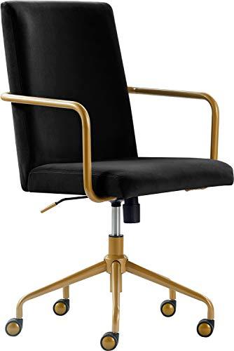 Elle Decor CHR10058A Giselle Home Office Chair, Black