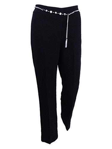 - Tahari ASL Women's Petite Solid Belted Dress Pants (16P, Black)