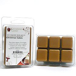 Christmas Cakes Soy Tarts Candles For Wedding/Dinner, Holiday Event, Home Decoration, 3.5 in. long x 2.5 in. wide x 1 in. thick, 6 Pk