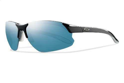 Smith Optics Parallel D Max Sunglass Black White Frame /Blue Mirror,Ignitor,Clear Lenses (Smith Sunglasses Slider)