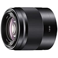 Sony SEL50F18  50mm f/1.8 Lens for Sony E Mount Nex Cameras (Black) - Fixed
