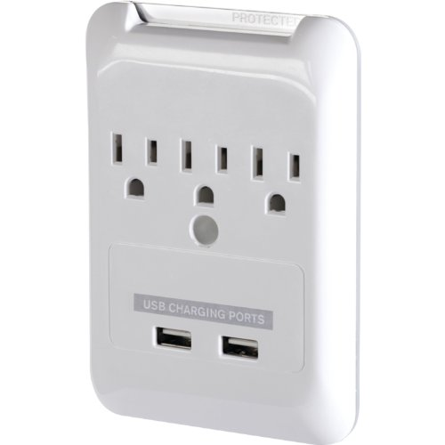 Targus Plug-N-Power Charging Station with USB Ports, White (APA21US) (Targus Laptop Charger With Usb Fast Charging Port)