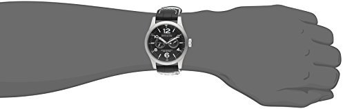 Invicta II Men's 0764 Stainless Steel Watch with Black Leather Band Invicta Black Wrist Watch