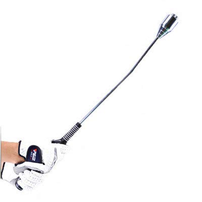 NBLYW Right Hand Golf Swing Trainer,Indoor Golf Swing Trainer Aid Speed Stick Whip,Adjustable Weight and Tempo Practice,Stainless Steel Warm Up Tool