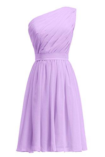 Kleid Mutter Tochter Lavendel Knielang Schulter Ein plissiertes KekeHouse® Abendkleid Blumenmädchenkleid Brautjungkleid I7wqI