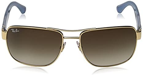 e2237ddd3c Amazon.com  Ray-Ban RB3530 Sunglasses Gold Brown Gradient 58mm   Cleaning  Kit Bundle  Clothing