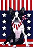 Cheap Boston Terrier – by Tomoyo Pitcher, Patriotic Themed Dog Breed Flags 12 x 18
